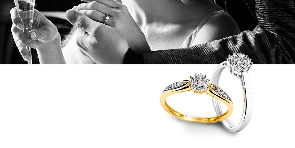 Wybór pierścionka z diamentami