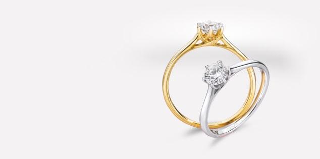 Klasyczny jeden diament